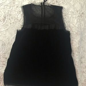 Loft black lace trim shirt
